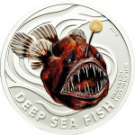 4196# ILHAS PITCAIRN $2 2010 Prata Proof Série Criaturas abissais: Peixe Diabo Tiragem: 1000 pçs!