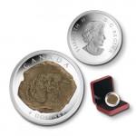 5866 # CANADA $4 2010 Prata Proof Ø34mm com FOSSIL: Euoplocéfalo - com efeito especial!!
