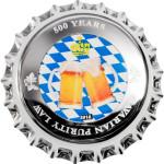 6402 Palau 1 $ 2016 Prata proof 500 Anos da Cerveja Bavária
