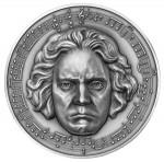 6507#camarões 3000 Francos 2020 Prata 999. 3oz ::Moeda Comemorativa Aniversário de Ludwing Van Beethoven