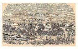 AT0001 ¤RARO¤ Gravura alemã 1881 retratando a cidade de PORTO ALEGRE