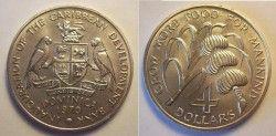 1155# ¤RRR¤ DOMINICA 1970 $4 FC 39mm ¤ so tem aqui! ¤
