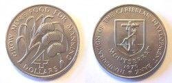 1794 ¤RARISSIMA¤ MONTSERRAT $4 1970 Veja descrição!