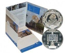 6184 Holanda 5 Euros Prata Proof - Moeda com Código de Barras 2D