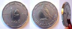 2164 ¤ESCASSA¤ EMIRADOS ARABES 5 Dirhems 1981 Comemorativa polig