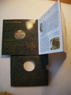 2269 ¤RARO¤ BLISTER ARGENTINA 2 Pesos 2002 Comemorativa  Eva Peron Variedade rara: BORDO LISO!