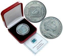 "2366 ¤RARA¤ BRITISH VIRGIN ISLAND $5 2005 TITANIO turquesa ""Cisne"""