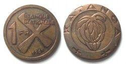 2913 ¤ESCASSA¤ KATANGA 1 Fr. 1961 FC bronze
