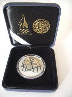 3019 ¤RARÍSSIMA¤ ESTONIA 2008 PRATA PROOF Ø 39mm c/ estojo de luxo e certificado original!