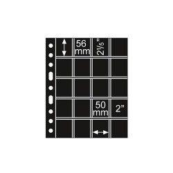 Folha sistema GRANDE com 20 compartimentos de 50x56mm com fundo preto