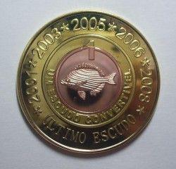"""3180 # CABINDA 1 Escudo 2008 """"Ultimo escudo"""" Bimetalica especial Ø38mm FC"""