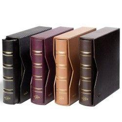 Álbum para moedas ou cédulas NUMIS Classic em couro legítimo com estojo protetor