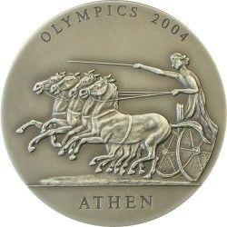 3377 # GHANA 500 SIKA 2004 Prata FC Ø40mm. Jogos Olímpicos de Athenas