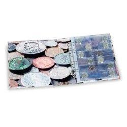 Álbum para moedas OPTIMA com 5 folhas (Capacidade para 152 moedas) Sem estojo.