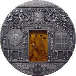 3540 ¤RARISSIMA¤ PALAU 10 Dollar 2009 PRATA 50mm Câmara ÂMBAR de São Petersburg