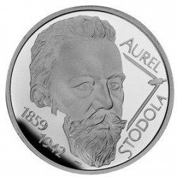 3814 # ESLOVAQUIA 10 Euros 2009 PRATA PROOF Comemorativa Aurel Stodola (1859-1942)