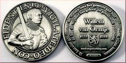 3922 # MEDALHA (GEOCOIN) CAVALEIRO WILLEM VAN ORANJE 1533-1584 Mod. PRATA Ø44mm