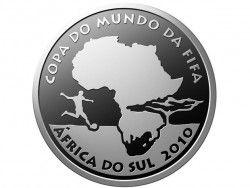 4022 # 5 Reais PRATA 40mm COMEMORATIVA COPA DO MUNDO FIFA  - ÁFRICA DO SUL 2010