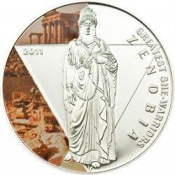 4193 # TOGO 500 Francos 2011 PRATA PROOF Ø35mm Série Grandes guerreiras II: Zenobia
