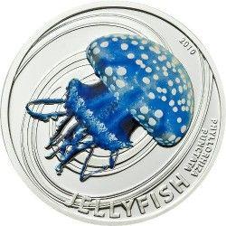 4199 # ILHAS PITCAIRN $2 2010 PRATA PROOF Série Agua-viva: Phyllorhiza punctata Tiragem: 1000 pçs!