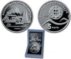 5378 # PORTUGAL 5 Euros 2006 PRATA PROOF Ø30mm Paisagem Cultural de Sintra  C/ Estojo e Certificado!