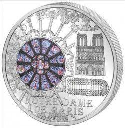 5586 # ILHAS COOK $10 2011 PRATA Ø55mm Série VITRAL III : NOTREDAME DE PARIS Tiragem: 2000 pçs!!