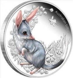 5744 # AUSTRALIA 50 Cents 2011 Prata Proof Ø37mm série filhotes: BILBY