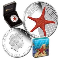 5771 # AUSTRALIA 50 Cents 2011 Prata Proof Ø37mm 2º Série Vida Marinha: Estrela do mar