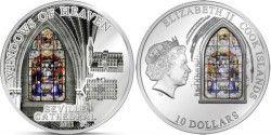 5819 # LHAS COOK $10 2011 Prata Proof Ø50mm Série VITRAL IV: Catedral de Sevilha Tiragem: 2000 pçs!