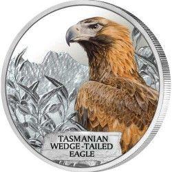 5854 # TUVALU 1 Dollar 2012 Prata Proof Ø41mm Águia