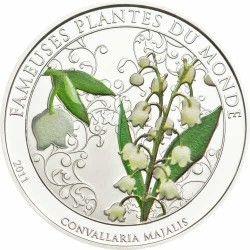 5864 # BENIN 100 Francos 2011 Ø39 mm PROOF c/ arôma! Série Plantas do Mundo:Lirio do Vale