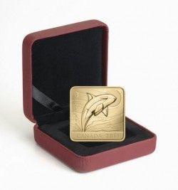 5887 # CANADA $3 2010 Prata/Ouro FC Ø27mm Série Vida Selvagem: Baleia Orca