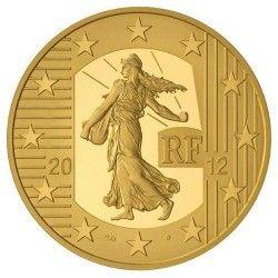 5912 # França 5 Euros 2012 Ouro Proof Ø11mm La Semeuse