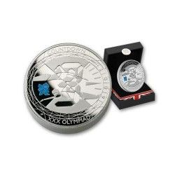 5940 # INGLATERRA 5 Pounds 2010 Prata Proof Ø39mm Jogos Olimpicos PIEDFORT