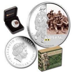 6041 # Australia $1 2012 Prata Proof Ø41mm Série famosas batalhas: Kapyong
