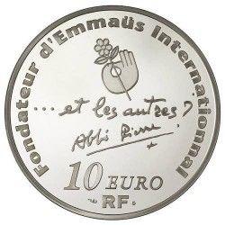 6070 # França 10 Euros 2012 Prata Proof Ø37mm Centenário de Abbé Pierre