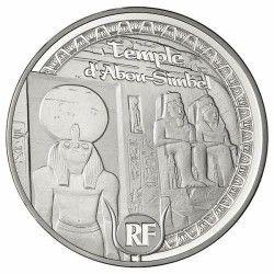 6078 # França 10 Euros 2012 Prata Proof Ø37mm Patrimonio da Unesco: Templo de Abu Simbel