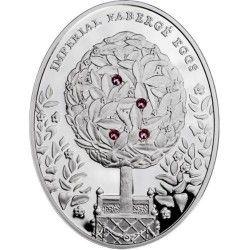 """6174 NIUE $2 2012 Prata Proof  Série Ovos imperiais FABERGE """"Ovo Loureiro"""""""