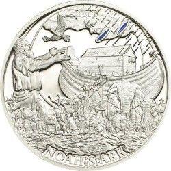 6212 Palau $2 2013 Prata Proof Série Histórias Bíblicas IV: A Arca de Noé
