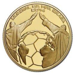 6232 Portugal 2,5 Euros 2014 Ouro Proof Copa do Mundo 2014 Brasil