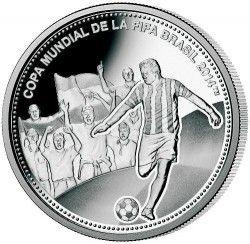 6236 Paraguai 1 Guarani 2013 Prata Proof  Copa do Mundo 2014 Brasil