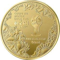 6243 França 50 Euros 2014 Ouro Proof  Copa do Mundo 2014 Brasil