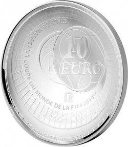 6246 França 10 Euros 2014 Prata Proof  Copa do Mundo 2014 Brasil