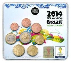 6247 França 3,88 Euros 2014 MiniSet BU Copa do Mundo 2014 Brasil