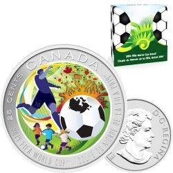 6262 Canada 25 cents 2014 Cu Ni Copa do Mundo 2014 Brasil