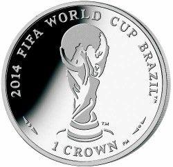 6284 Ilha do Homem 1 Crown 2012 Prata Copa do Mundo 2014 Trofeu