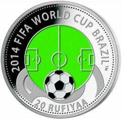 6289 Maldivas 2012 Prata Copa do Mundo 2014 Campo de Futebol