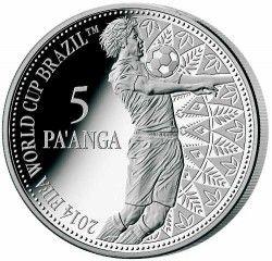 6300 Tonga 2013 Prata Copa do Mundo 2014 FUTEBOL