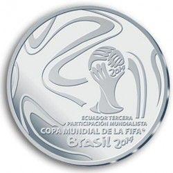 6311 Equador 1 Sucre 2014 Prata Copa do Mundo 2014 Apenas 1000 pçs no Mundo!!