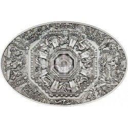 6333 ILHAS Cook 5$ 2014 Prata Antique Finish Nano Tecnologia - Catedral de Florença - Último Julgamento
